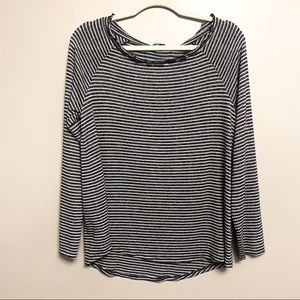 NEW Gibson Black and White Stripe Long Sleeve M
